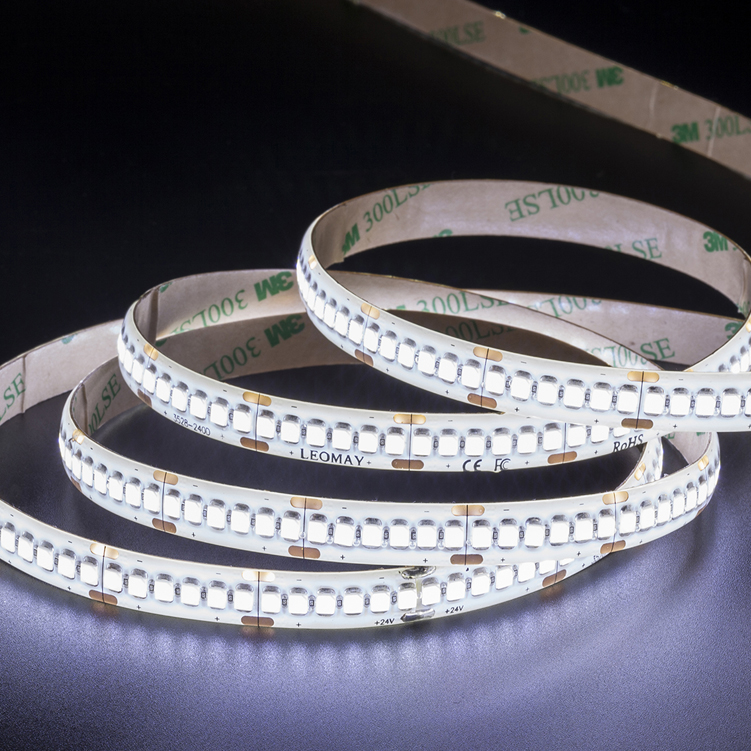 SMD3528 240leds/m DC24V LED strips(IP65 PU glue)