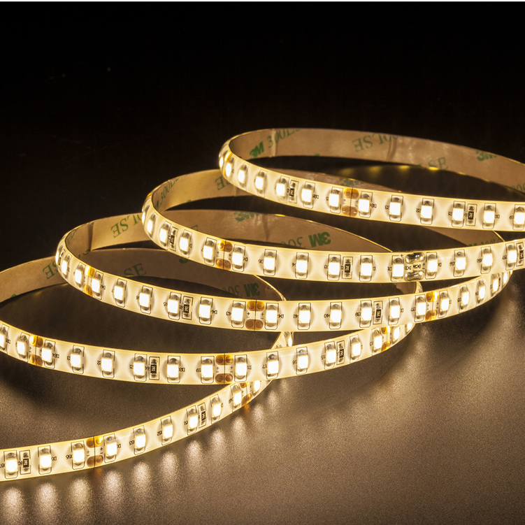 SMD3528 120leds/m DC24V LED strips(IP65 PU glue)