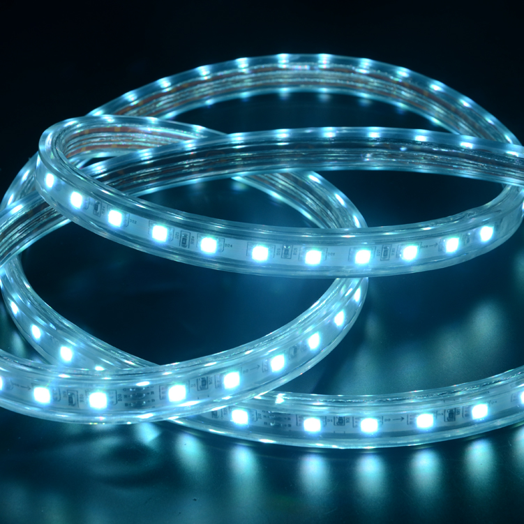 SMD5050 60leds/m RGB HV LED strips (IP67 Waterproof)
