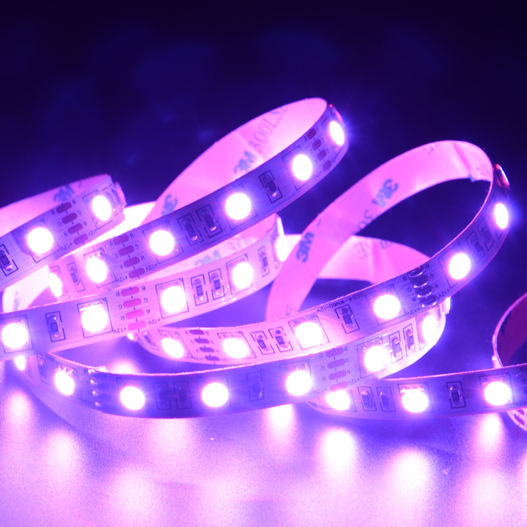 SMD5054  60leds/m RGB DC12V LED strips(Non-waterproof)