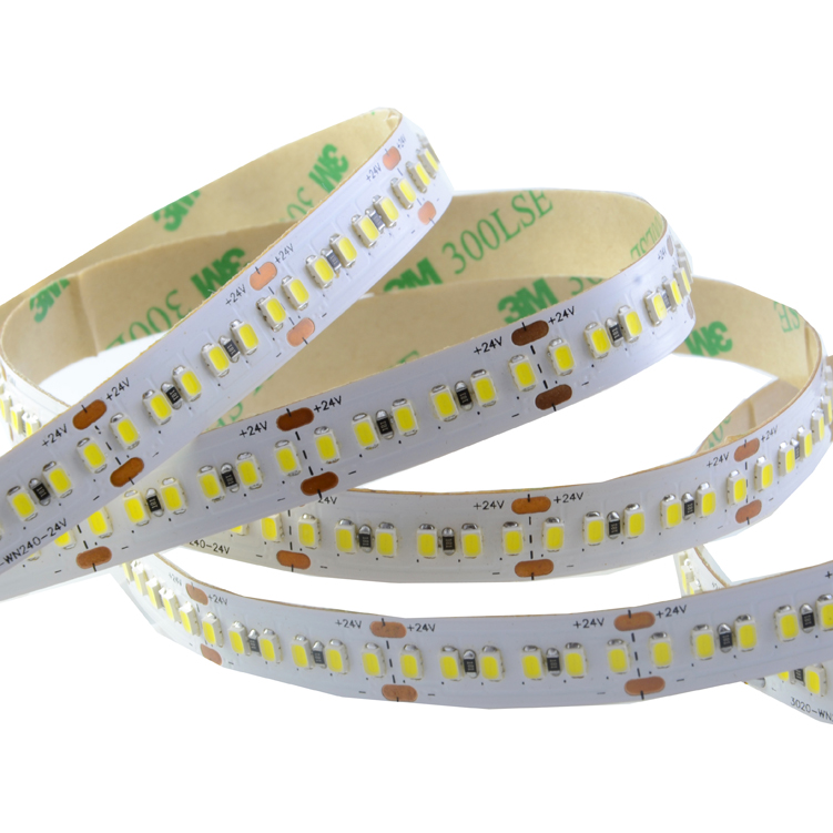 SMD3020 240leds/m  DC24V LED strips(Non-waterproof)