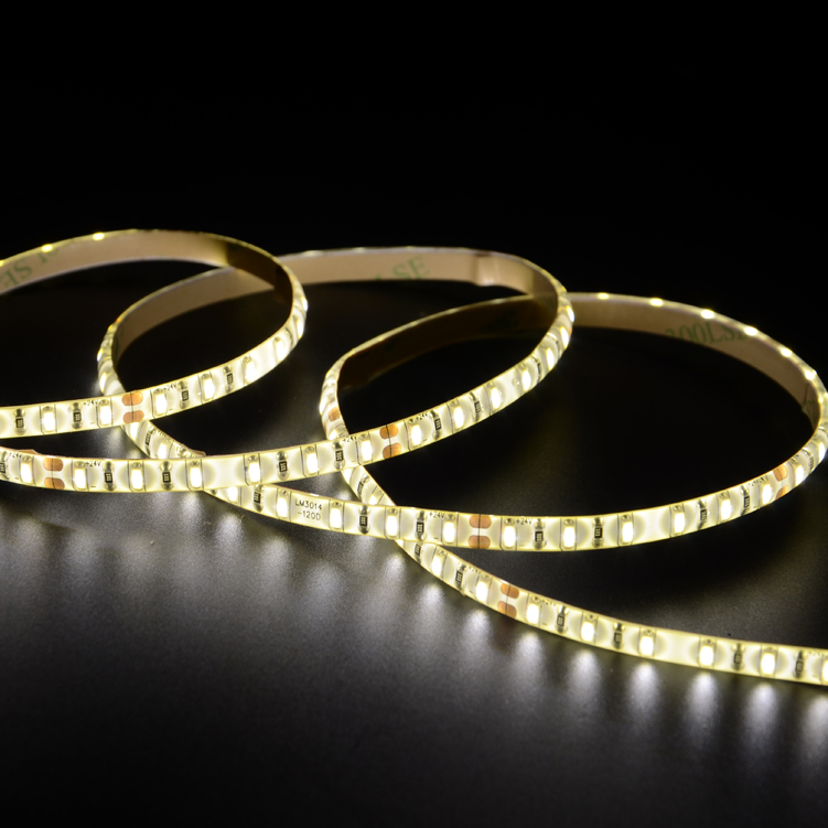 SMD3014 120leds/m DC24V 5MM LED strips(Non-waterproof)