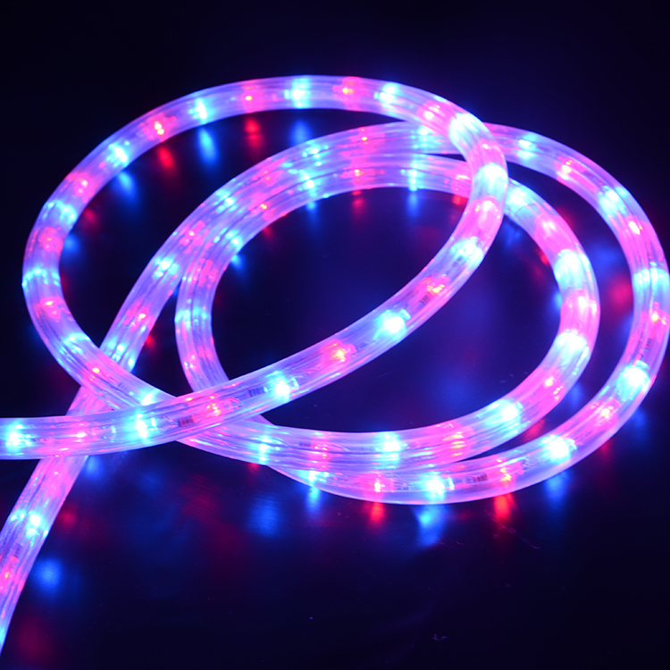 3 Wire Round Horizontal LED Rope Light