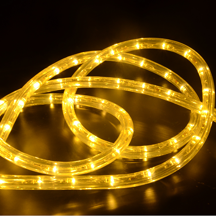 2 Wire Round Horizontal LED Rope Light