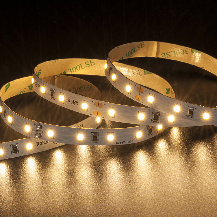SMD2835 60leds/m DC24V LED strips(Non-waterproof)