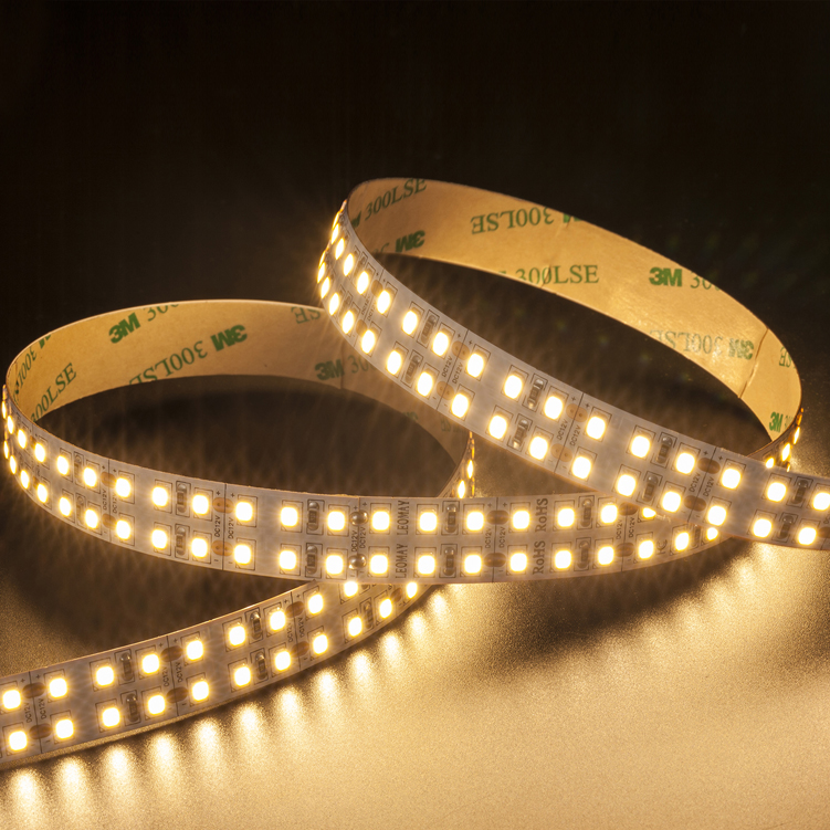 SMD2835  240leds/m  DC12V/24V 16MM  Double Row LED strips (Non-waterproof)