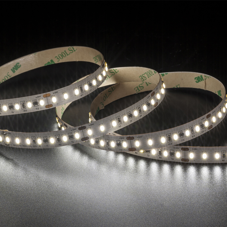 SMD3014 140leds/m DC24V Constant Current LED strips (Non-waterproof)