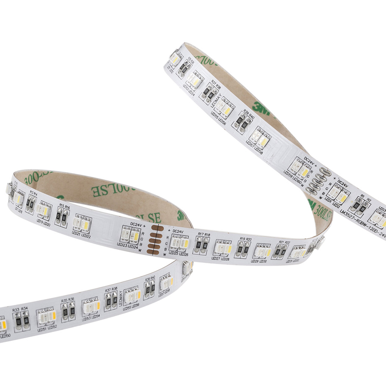 SMD3527 120leds/m DC24 RGBW CCT LED strips(Non-waterproof)