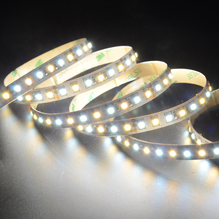 SMD3528 120leds/m DC12V CCT LED strips(Non-waterproof)