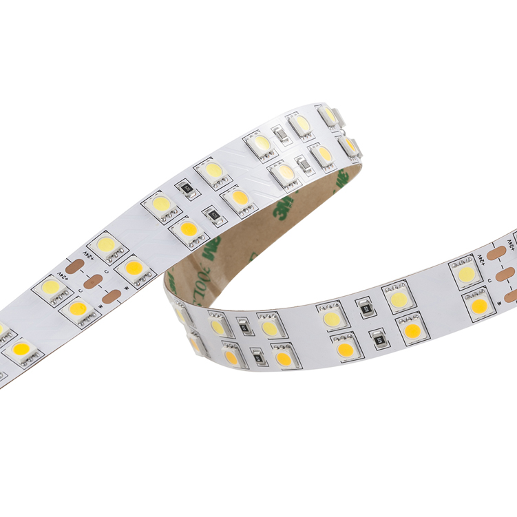 SMD5050 120leds/m DC24V CCT LED strips(Non-waterproof)