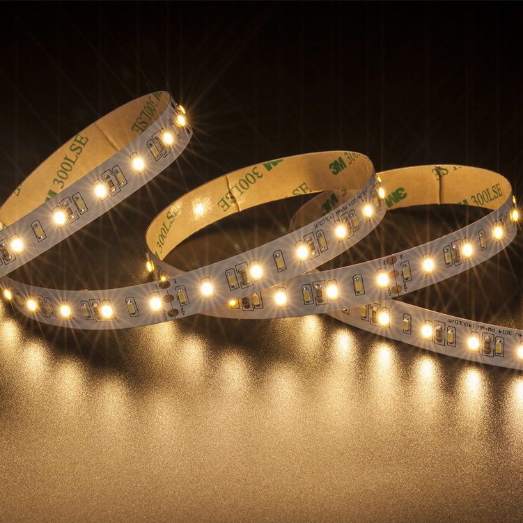 SMD3014 140leds/m DC24V CCT LED strips(Non-waterproof)