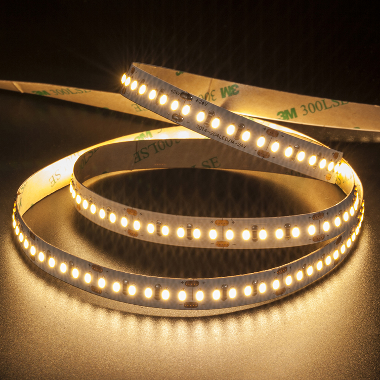 SMD3014 204leds/m DC24V LED strips(Non-waterproof)