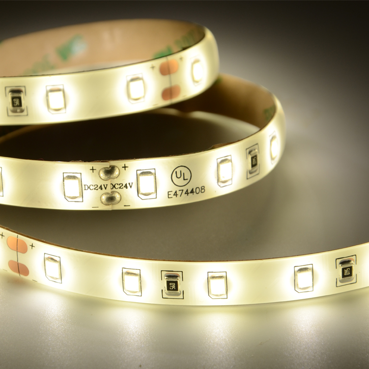 UL SMD2835 60leds/m DC24V IP65 LED strips(IP65 PU glue)