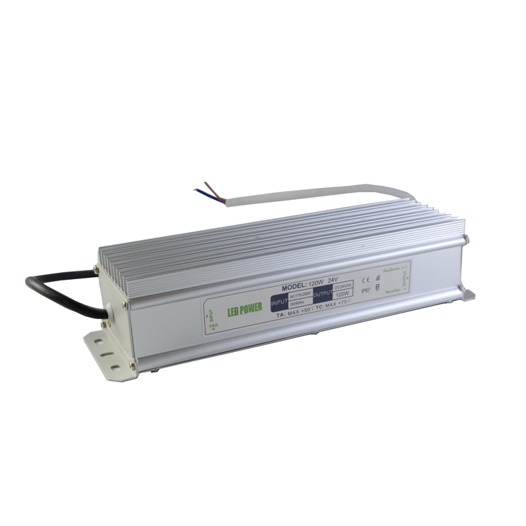 120W 24V Power Supply for Led Strips (waterproof)