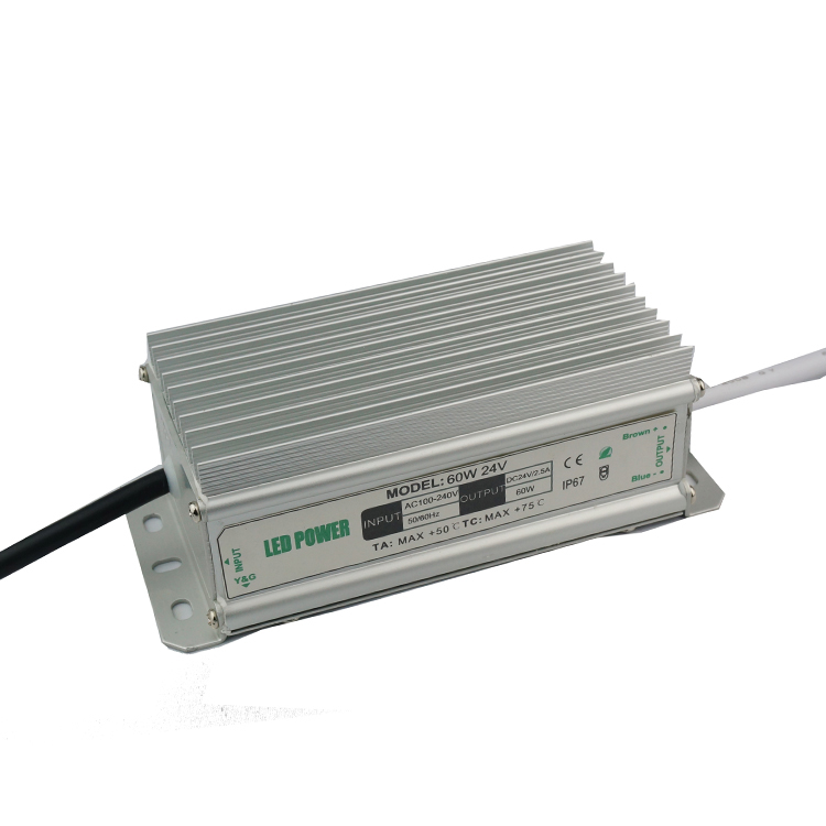 60W 24V Power Supply for Led Strips (waterproof)
