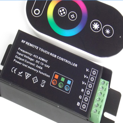 DC12/24V 12A 6 Key RF RGB controller with touch screen