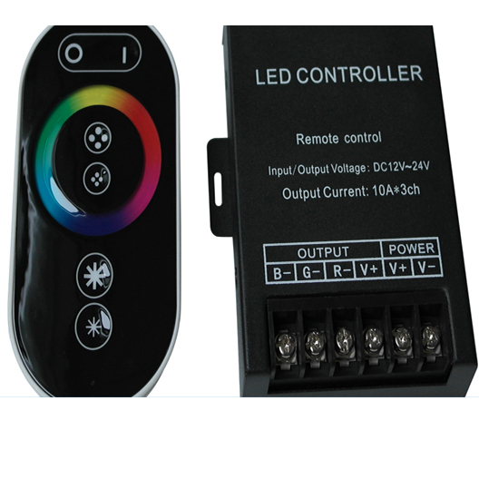 DC12/24V 30A 8 Key RF RGB controller with touch screen