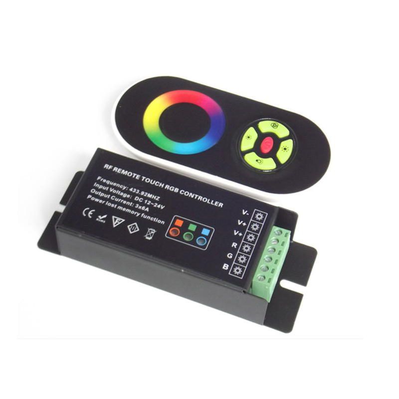 DC 12V/24V 5 Key RF RGB Strip Controller with Touch Screen