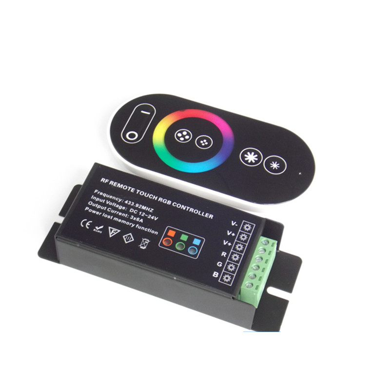 DC 12V/24V 6 Key RF RGB Strip Controller with Touch Screen