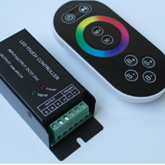 DC 12V/24V 8 Key RF RGB Strip Controller with Touch Screen