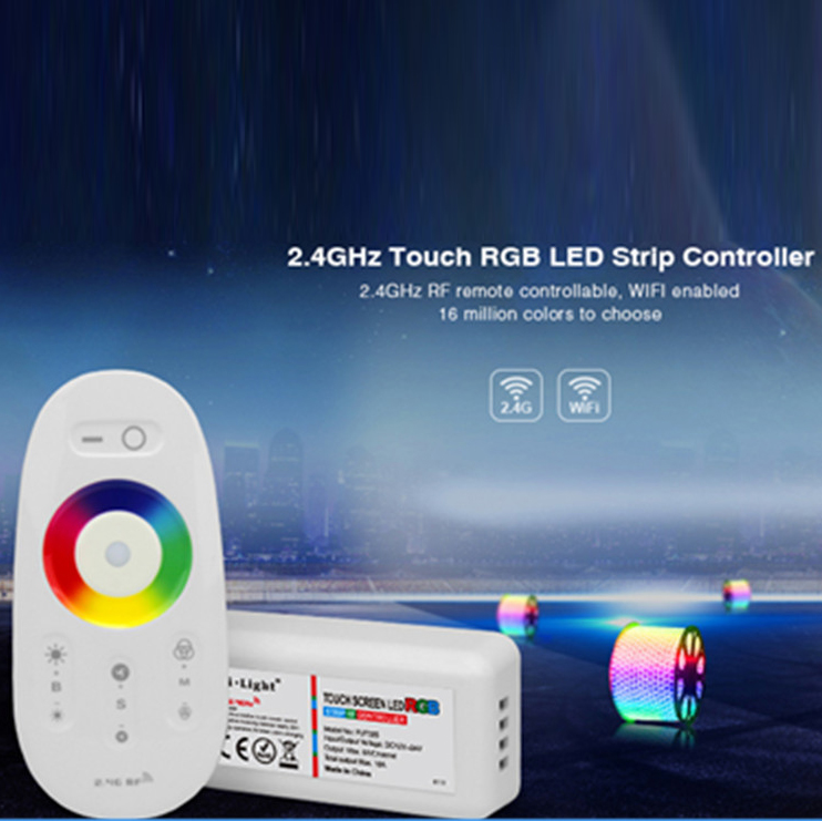 DC 12V/24V 4 Zone RGB LED Strip Controller with Touch Screen