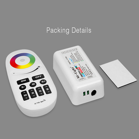 DC12/24V  2.4G RGBW Controller with Touch Screen