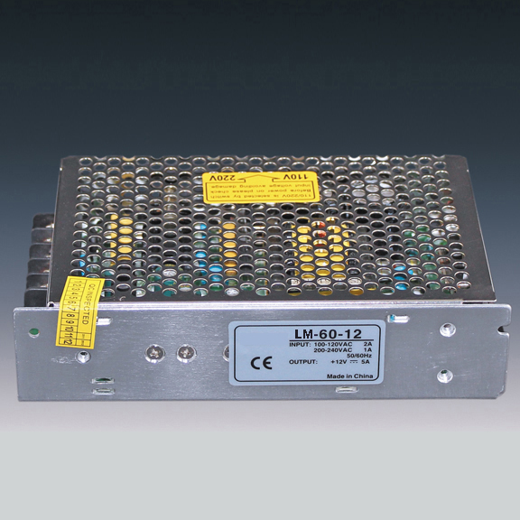 60W Power Supply for Led Strips (non-waterproof)