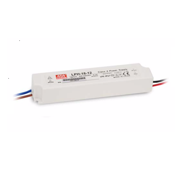 18W Meanwell Power Supply for Led Strips (waterproof) LPH Serie
