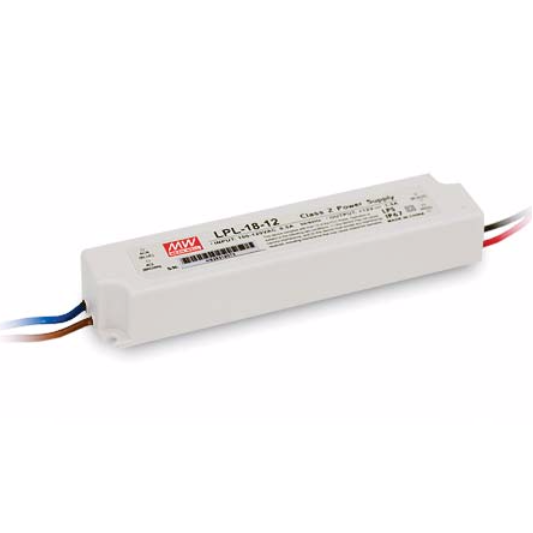 18W Meanwell Power Supply for Led Strips (waterproof)