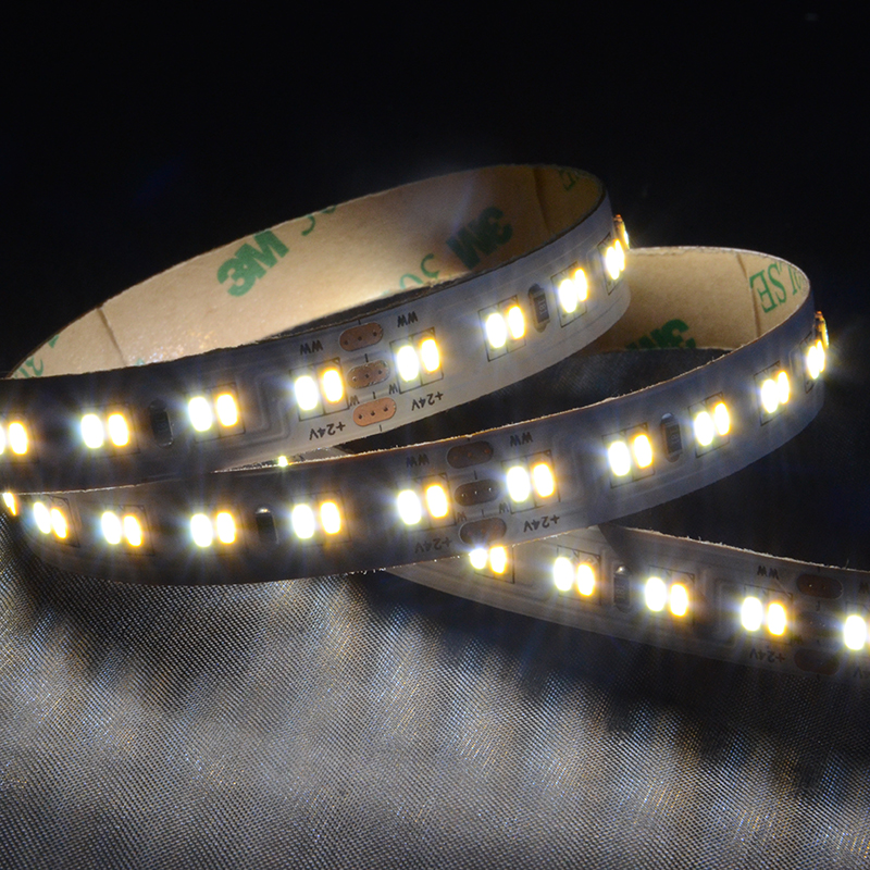 SMD3014 224leds/m DC24V CCT LED strips(Non-waterproof)
