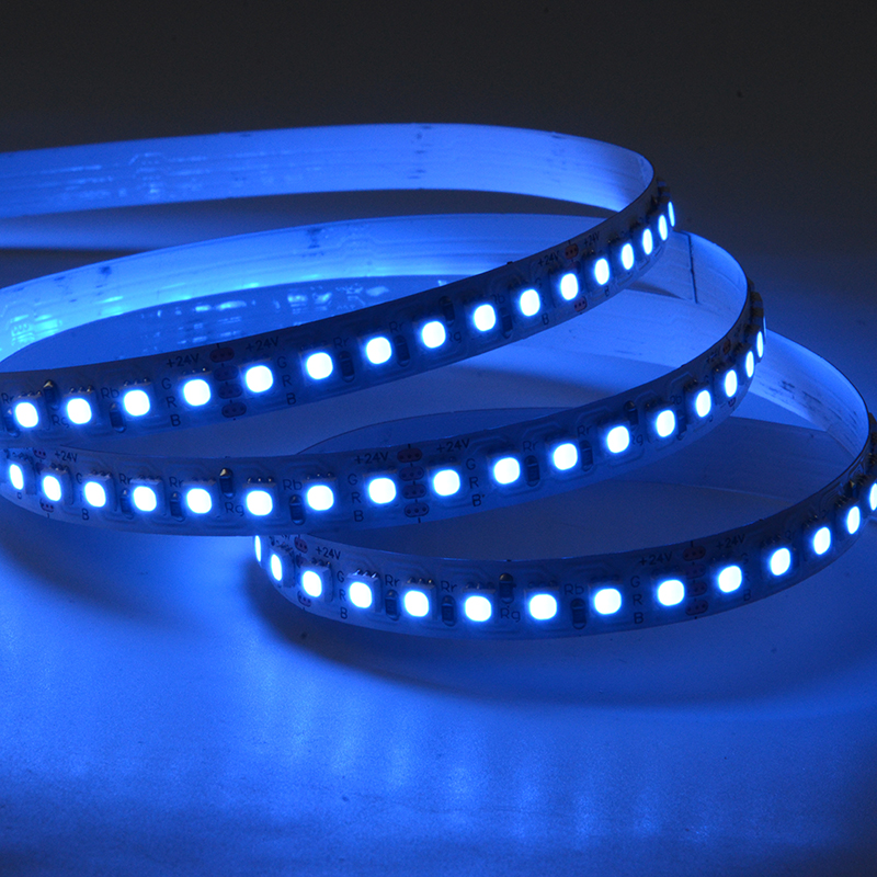 SMD3838 168leds/m RGB DC24V 8mm LED strips(Non-waterproof)