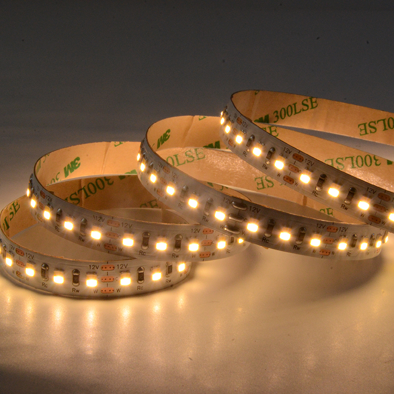 SMD2835 120leds/m DC12V CCT(2in1) LED strips(Non-waterproof)