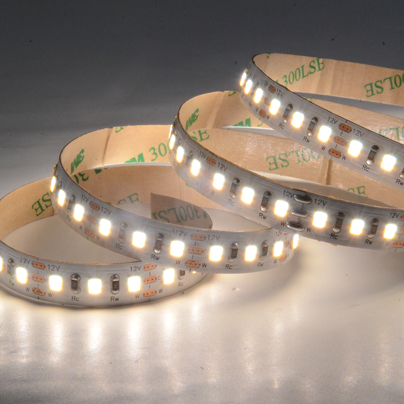 SMD2835 120leds/m 10MM DC12V CCT 2in1 LED strips(Non-waterproof)