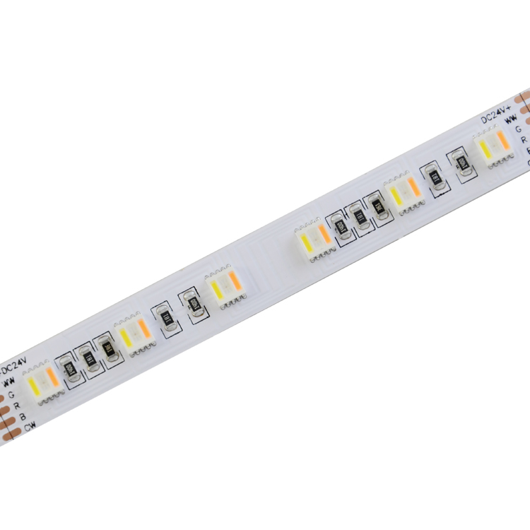 SMD5050 5in1 60leds/m  RGB/CCT DC24V 12MM LED strips(Non-waterproof)