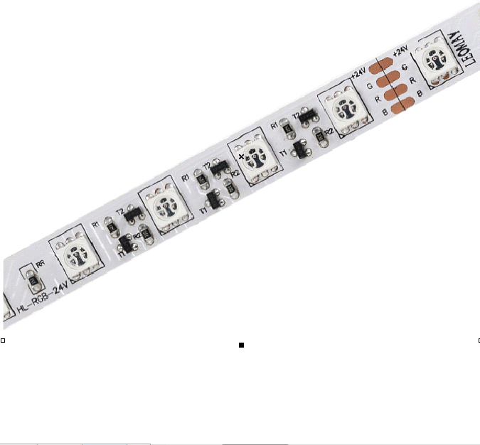 SMD5050 60leds/m RGB DC24V Constant Current LED strips(Non-Waterproof)