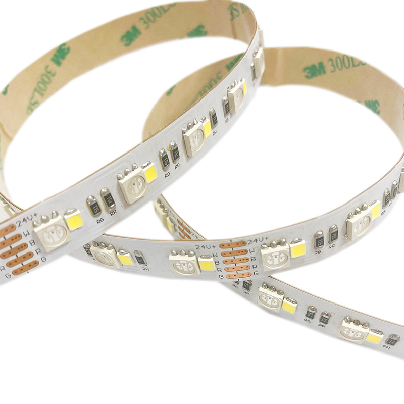 SMD5050+2835  4in1 120leds/m DC24V LED 12mm strips(Non-waterproof)